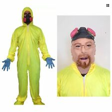 Yellow Hazmat Suit Fancy Dress Breaking Bad Costume Heisenberg Walter White Cook