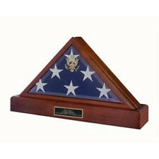 Burial Flag and Pedestal Display Case Hand Made By Veterans