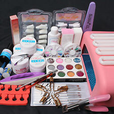 Nail Art Kit UV Builder Gel 36W Timer Dryer Lamp Decorations full Tools Set Kit