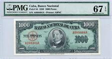 1950 CARIBBEAN ISLAND 1000 PESOS SUPERB NOTE PMG-SUPERB-GEM-UNC-67-EPQ.