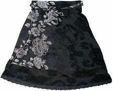 Desigual SACHA Grey Skirt With White Floral Patterns Size M
