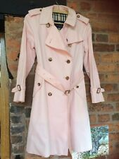 Burberry Light Pink Trench Coat Size 12 VGC