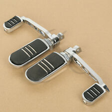 Chrome Anti-Vibe Foot Peg With Heel Rest For Harley Sportster XL 883 1200 Iron