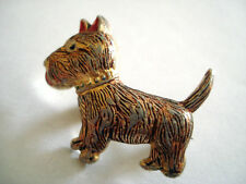 BROCHE BROOCH CHIEN DOG HUND PERRO CANE HOND ANIMAL ANIMAUX BIJOUX ? AGATHA ?