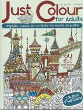 JUST COLOUR 4ÈME ÉDITION __ ADULTE LIVRE À COLORIER __ NEUF __ FREEPOST UK