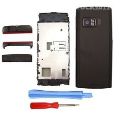 Black Fascia Full Housing Case Cover Shell Bezel Keypad for Nokia X6 X6-00 +TLs