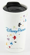 NEW Disney Parks Starbucks Tall Ceramic Tumbler Travel Mug 12 oz Cup with Lid