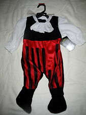Pirate Infant Baby Boy Halloween Costume Size XS 0-9 months