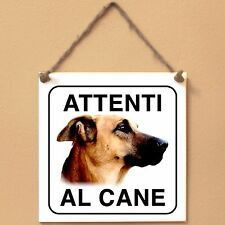 Kombai 2 Attenti al cane Targa cane cartello ceramic tiles