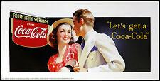 COCA COLA poster pubblicitario LET'S GET A COCA COLA