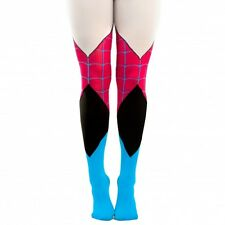MARVEL COMICS SPIDER GWEN SUIT UP SHEER TIGHTS COSTUME COSPLAY STRETCH PANTS NWT