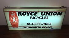 Vintage Royce Union Bicycle & Accessories Dealer 2 Sided Lighted Sign Works