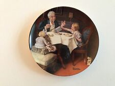 """""""The Gourmet"""" Knowles Ninth 9th Collector Plate 1984 Norman Rockwell Heritage"""