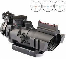 Vokul® Rifle Scope Tactical 4x32 Red-Green-Blue Triple Illuminated Rapid Range