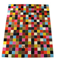 EXKLUSIVER KUHFELL TEPPICH PATCHWORK BUNT  200 x 160 cm  COWHIDE RUG MULTICOLOR