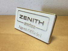 Vintage Placa Plaque ZENITH Swiss - Agent Officiel - Watches Relojes Montres