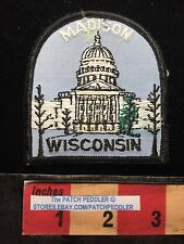 VTG WISCONSIN STATE CAPITOL BUILDING Patch IN CAPITAL MADISON WI 63V