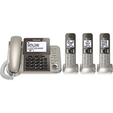 Panasonic KX-TGF353N DECT 6.0 Plus Corded/Cordless Phone System with 3 Handsets