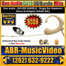 Que Audio DA12DE Bundle (Beige) Headworn Wireless Microphone