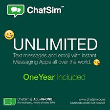 ChatSim Unlimited - Global SIM card to chat with WhatsApp, Telegram and other...