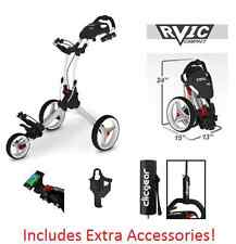 Rovic RV1C by Clicgear Compact Golf Push Cart Arctic/White Clic Gear 3 3.5 Pull