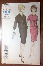 Vintage 1960s VOGUE Special Design Sewing Pattern 5844 Two-Piece Dress B38 H40