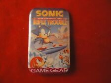 Sonic the Hedgehog Triple Trouble Sega Game Gear Promotional Button Pin Promo
