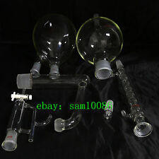 Essential oil steam distillation kit,Allihn Condenser,All Glassware,New Lab,Chem