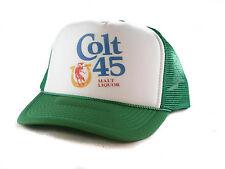 Vintage Colt 45 malt liquor beer hat Trucker Hat mesh hat snapback hat green