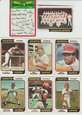 Vintage 1974 Topps ASTROS 25 cards partial team set