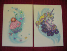 10 SPARKLY Temporary Tattoos unicorn heart dolphin lips butterfly cupcake flower