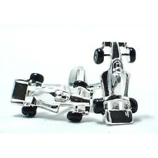 F1 Motor Car Racing Cuff Links SILVER-PLATED Cufflinks swivel back +Black Box
