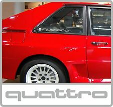 AUDI QUATTRO FROSTED REAR QUARTER WINDOW DECALS / STICKERS