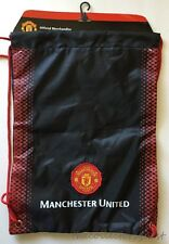 NEW LICENSED MANCHESTER UNITED BLACK RED DRAWSTRING GYM CINCH SACK BAG BACKPACK