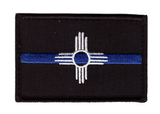 NEW MEXICO STATE FLAG THIN BLUE LINE POLICE TACTICAL SWAT HOOK PATCH