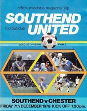 Southend United V Chester ,  1979 , Football League Division 3 , match Programme