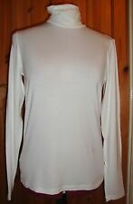 BNWT MAYSAA Ladies Cream Viscose Long Sleeved Polo Neck Top Size 14