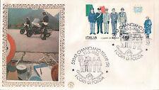 FDC ITALIA PRIMO GIORNO DI EMISSIONE 1986 CHIANCIANO TERME POLIZIA 7-19