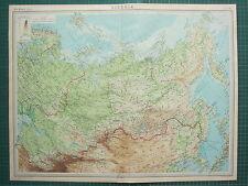 1921 LARGE MAP ~ SIBERIA ~ MONGOLIA IRKUTSK MANCHURIA TURKESTAN TOMSK