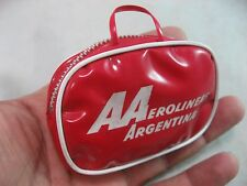 VINTAGE AEROLINEAS ARGENTINAS Ball And Jacks Set In Mini Travel Bag, RARE
