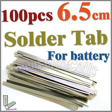 100 Pcs 6.5cm Solder Tab For Sub C AA AAA 18650 Battery Cell