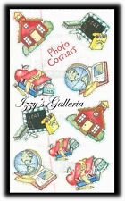 Vintage Frances Meyer Lucy Rigg Back To School Stuff Photo Corners Stickers