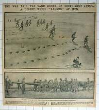 1915 Union Army Amid Sand Dunes South West Africa