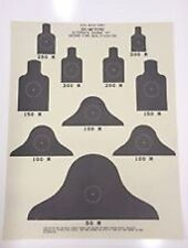 LOT of 10 M16 AR15 Fire Qualification 25M Paper Targets, AirSoft, Paintball