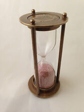 4 inch Sand Timer Hourglass Solid Brass Nautical Marine Antique Finish