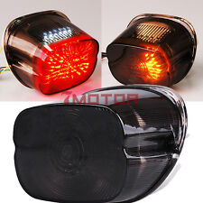 Smoked Rear Tail Brake Turn Signals Led Light For Softail Sportster Road King 7M