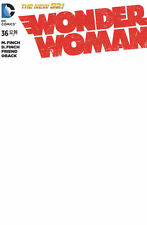 Wonder Woman 36 Blank convention variant DC New 52 authentix sketch Batman