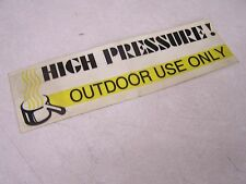 COLEMAN FLEETWOOD HIGH PRESSURE DECAL