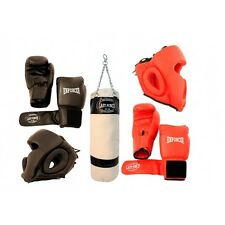*Sparring Set* Boxing  ackage 2 Pairs of Gloves and Headgears & Punching Bag