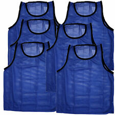 6 ADULT BLUE Jersey practice uniform pinnie pennie lacrosse field hockey